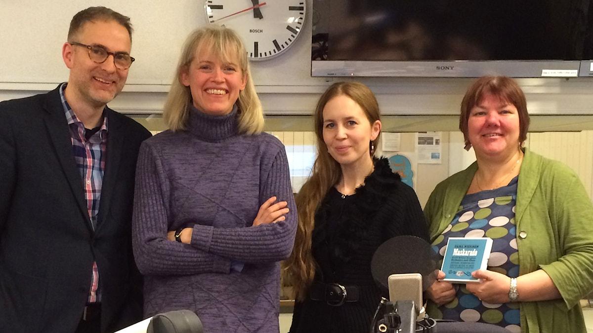 Johan Korssell, Boel Dirke, Anna Nyhlin och Evabritt Selen