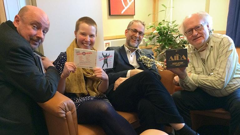 Bengt Forsberg, Hanna Höglund, Johan Korssell och Magnus Lindman.