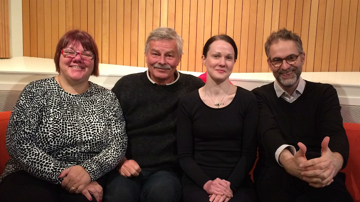 Veckans panel fr. vänster: Evabritt, Niklas, Johanna och Johan
