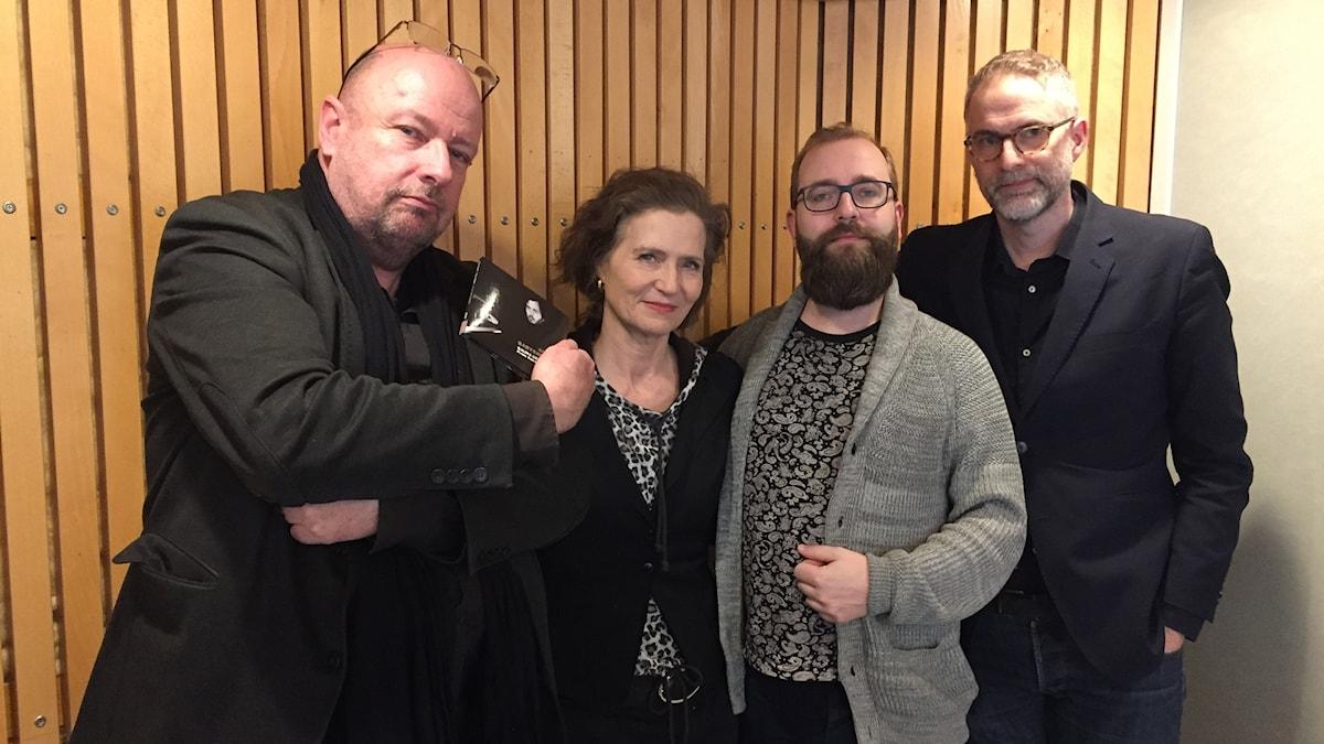Musikrevyns panel består denna vecka av dramaturgen Magnus Lindman, P2:s Boel Adler, trumpetaren Andreas Parmerud och Johan Korssell.