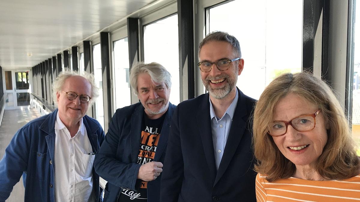 Bengt Forsberg, Sonny Jansson, Johan Korssell och Camilla Lundberg.