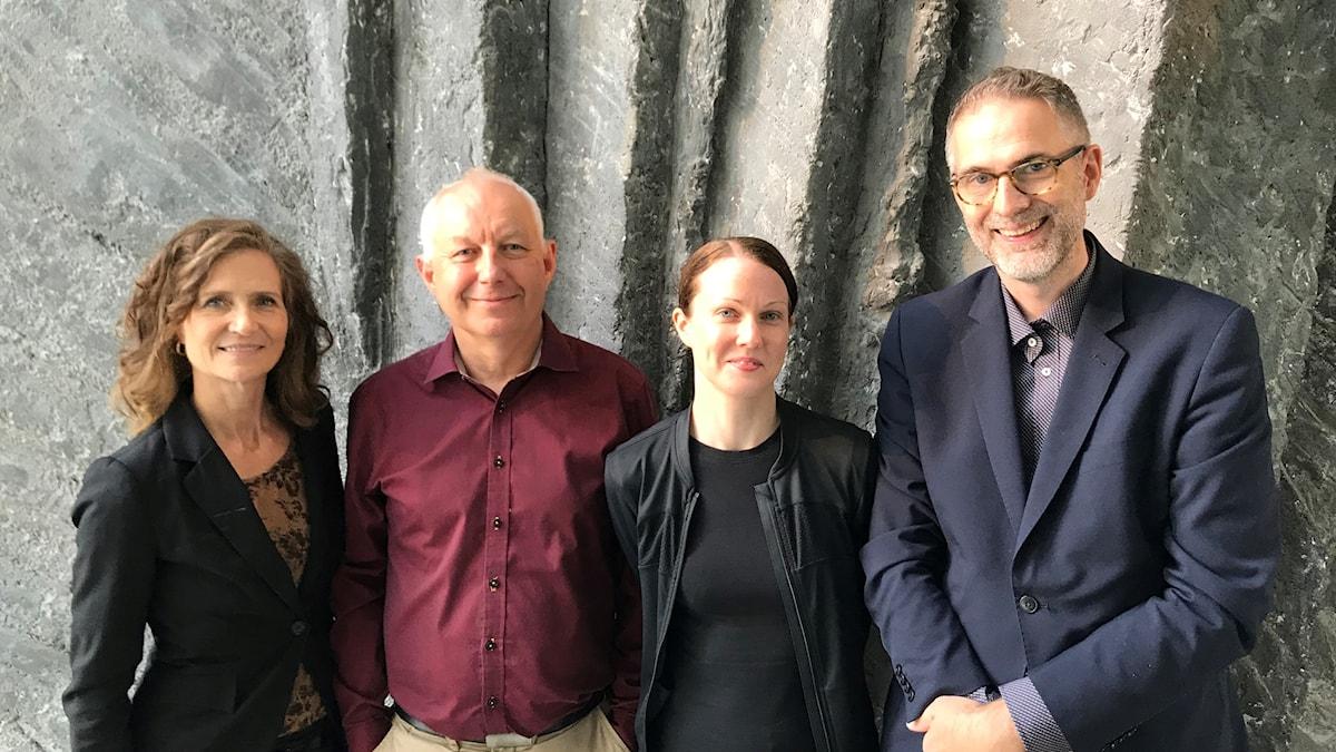 Veckans panel: Boel Adler, Måns Tengnér och Johanna Paulsson.