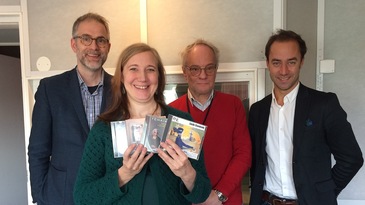 Panelen fr v: programledaren, Ditte Hammar, Per Lindqvist och Edward Klingspor