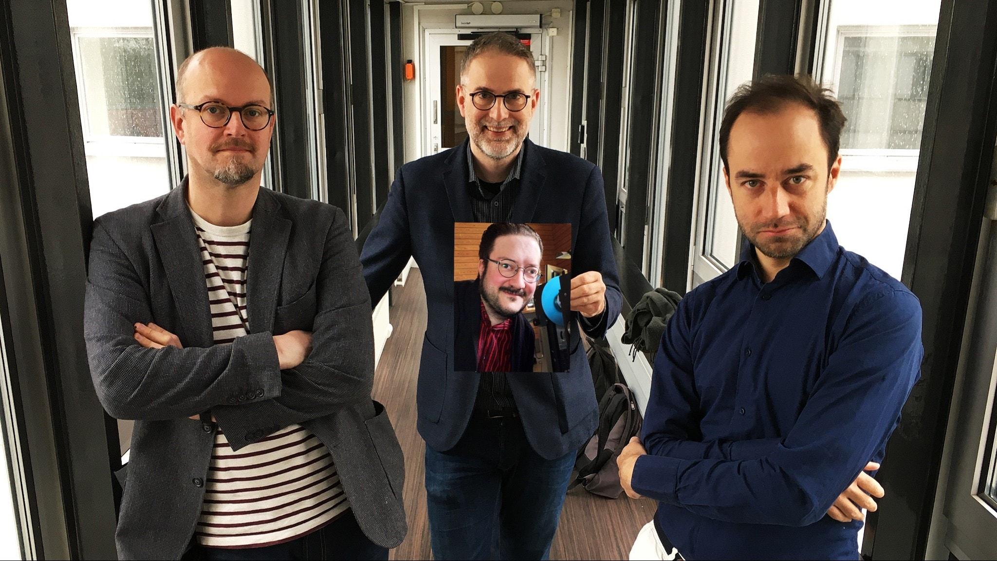 Musikrevyn panel med Klingspor, Staern och Björkman.