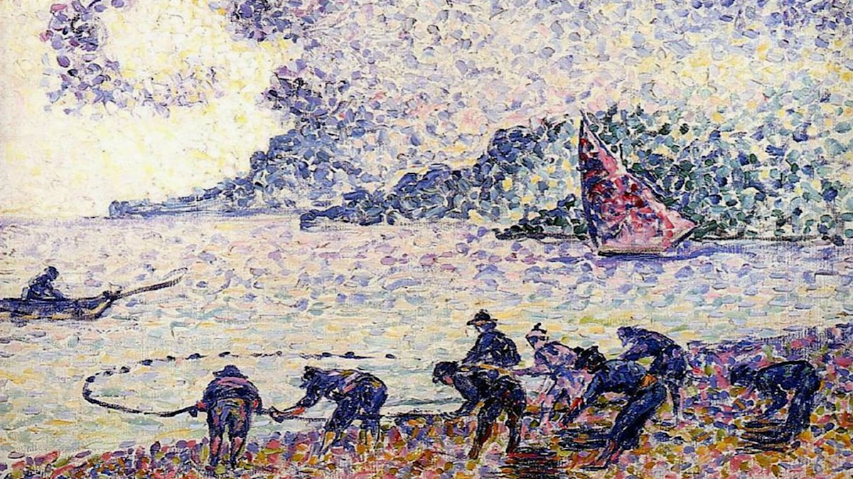 Fisherman. Henri-Edmond Cross (1895)