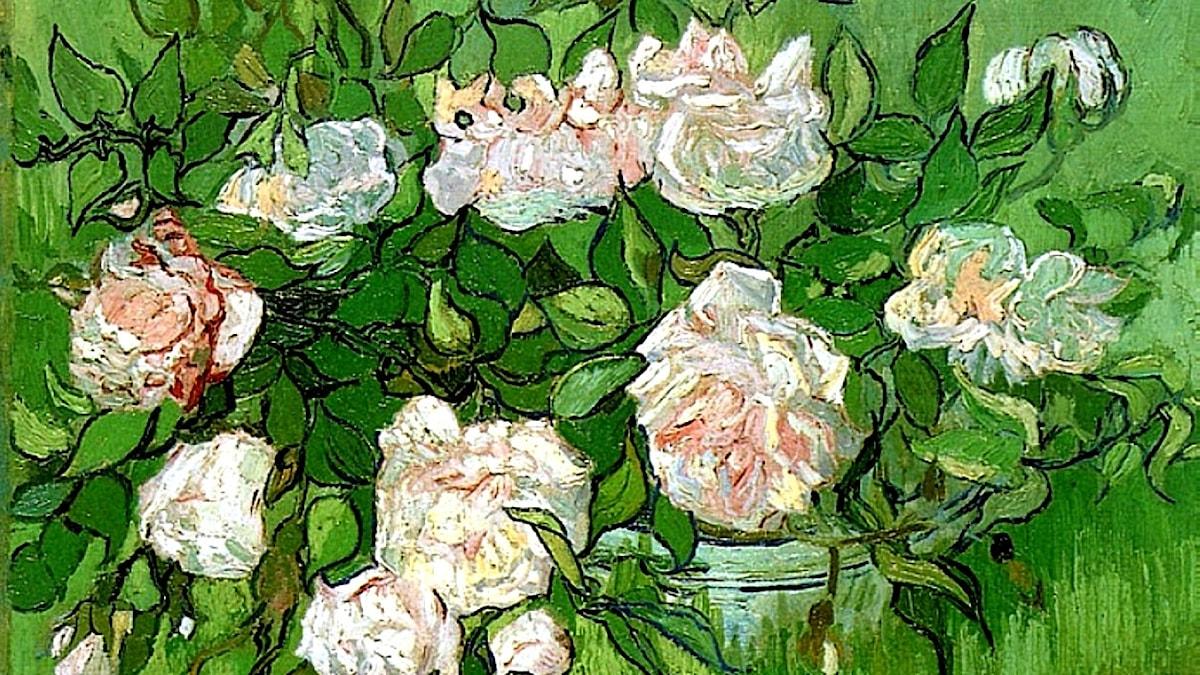 Vincent van Gogh: Stilleben, rosa rosor (1890)