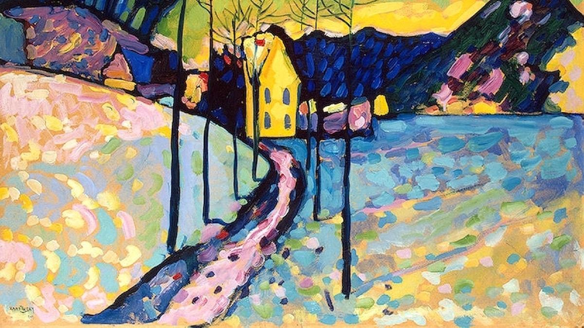 Vasilij Kandinsky: Vinterlandskap (1909)