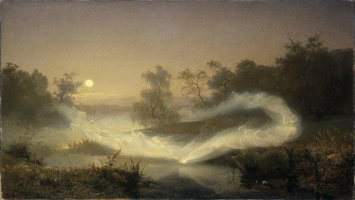 'Älvalek'. August Malmström (1866).
