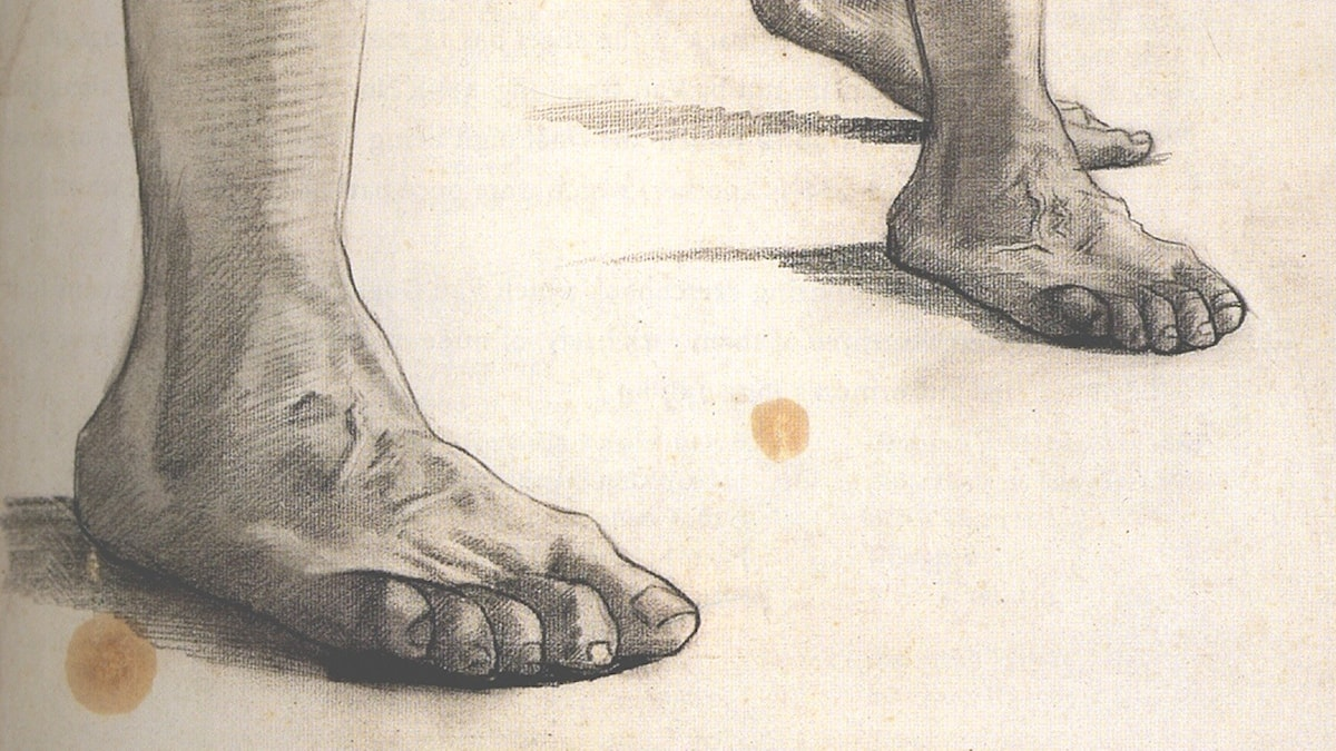 Fötter. Vincent van Gogh, 1885.