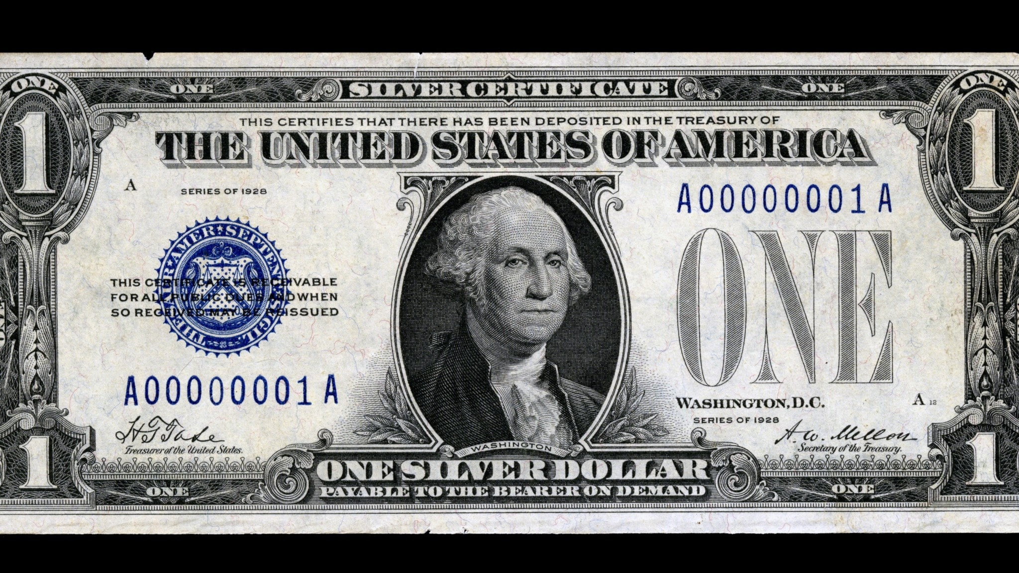 Dollarsedel från 1928