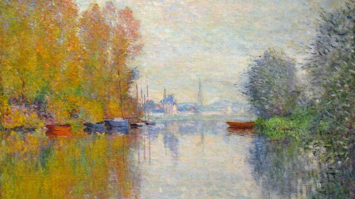 Autumn on the Seine at Argenteuil. Claude Monet (1873)