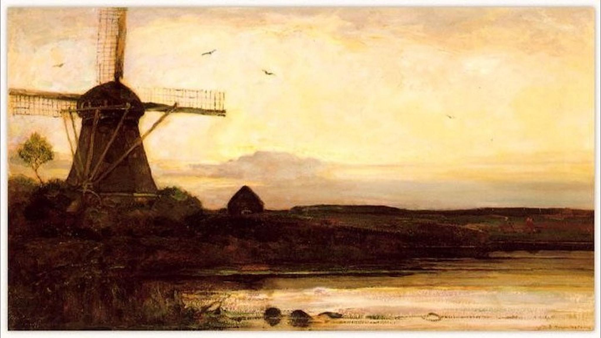 En kvarn i kvällen. Piet Mondrian -1905