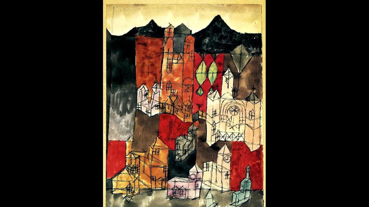 Paul Klee: Kyrkornas stad (1918)