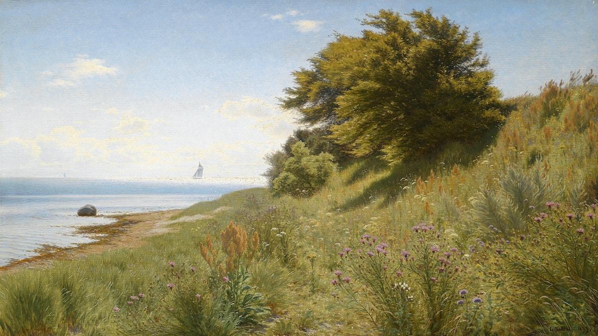 'Sommardag vid havet'. Ludvig Kabell (1902).