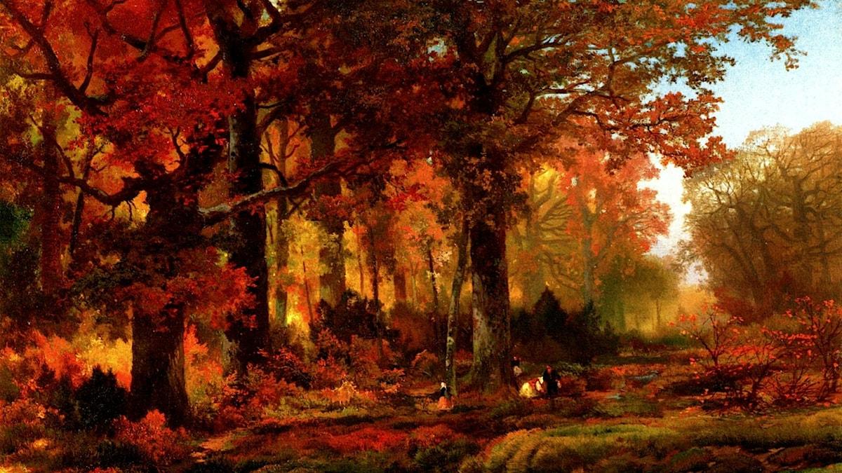 """Höst i Cresheim Glen, Wissahickon"". Thomas Moran, 1864"