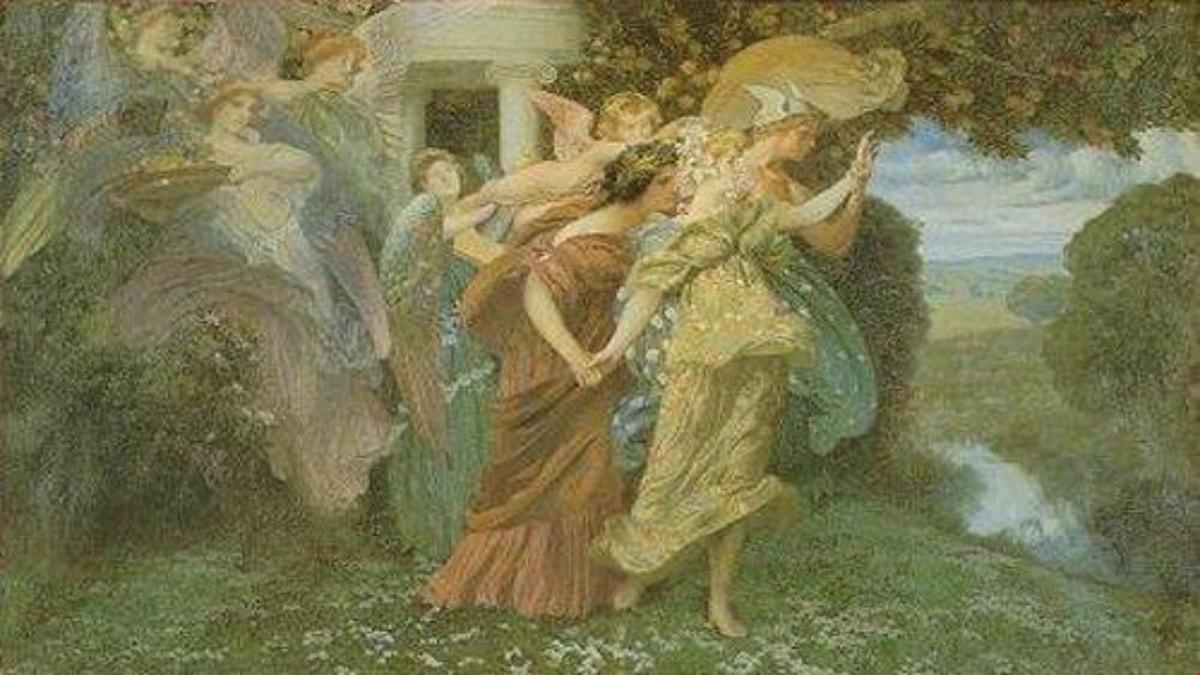 'Persefones bröllop'. Henry Siddons Mowbray (ca 1895).