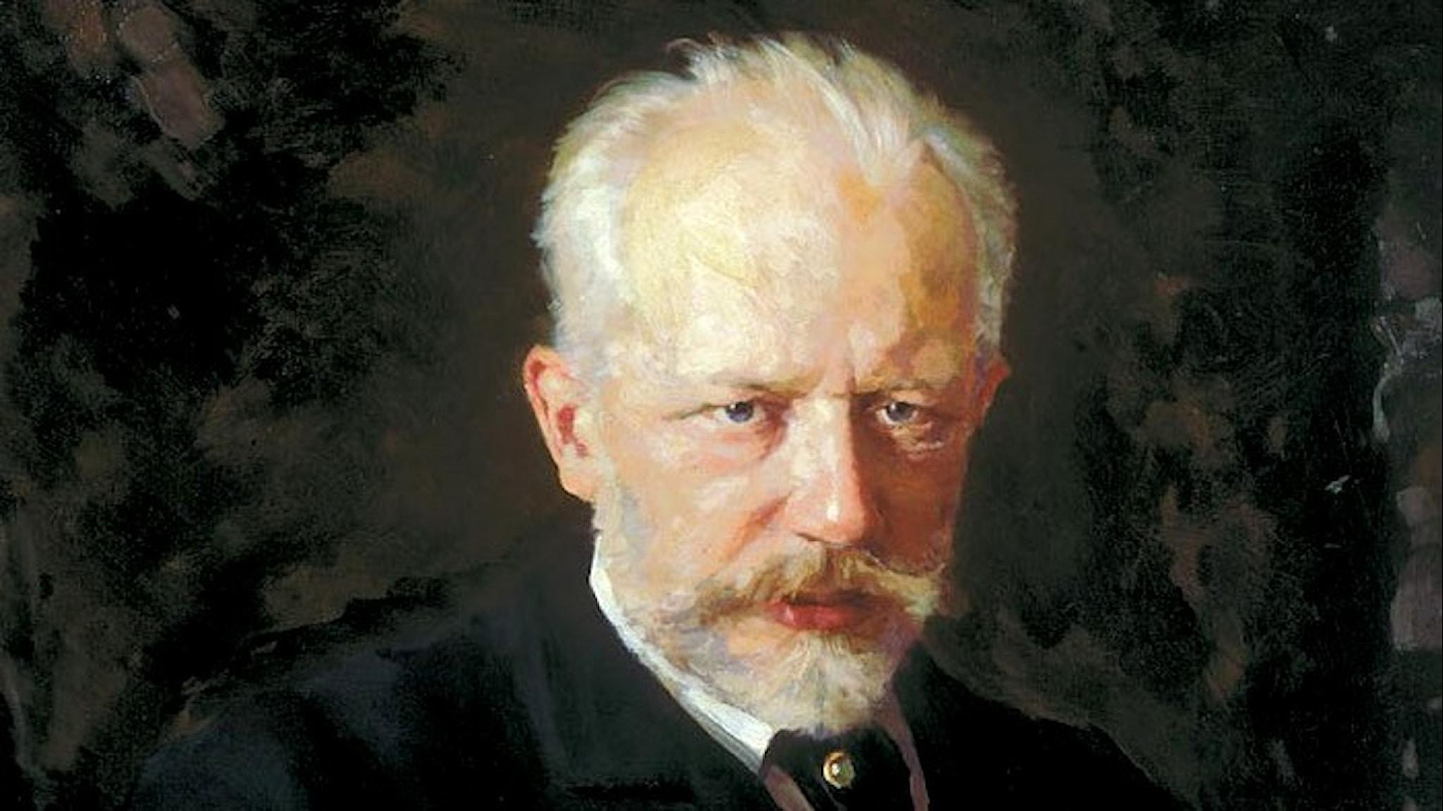Porträtt av Peter Tjajkovskij (Nikolai Kuznetsov, 1893).