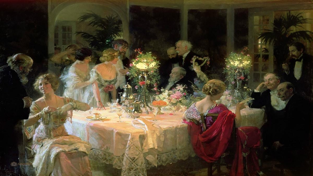 Jules-Alexandre Grün. The End of Dinner (1913)
