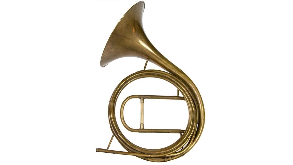 Inventionshorn/naturhorn vidareutvecklat ca 1750 av Anton Hampel.