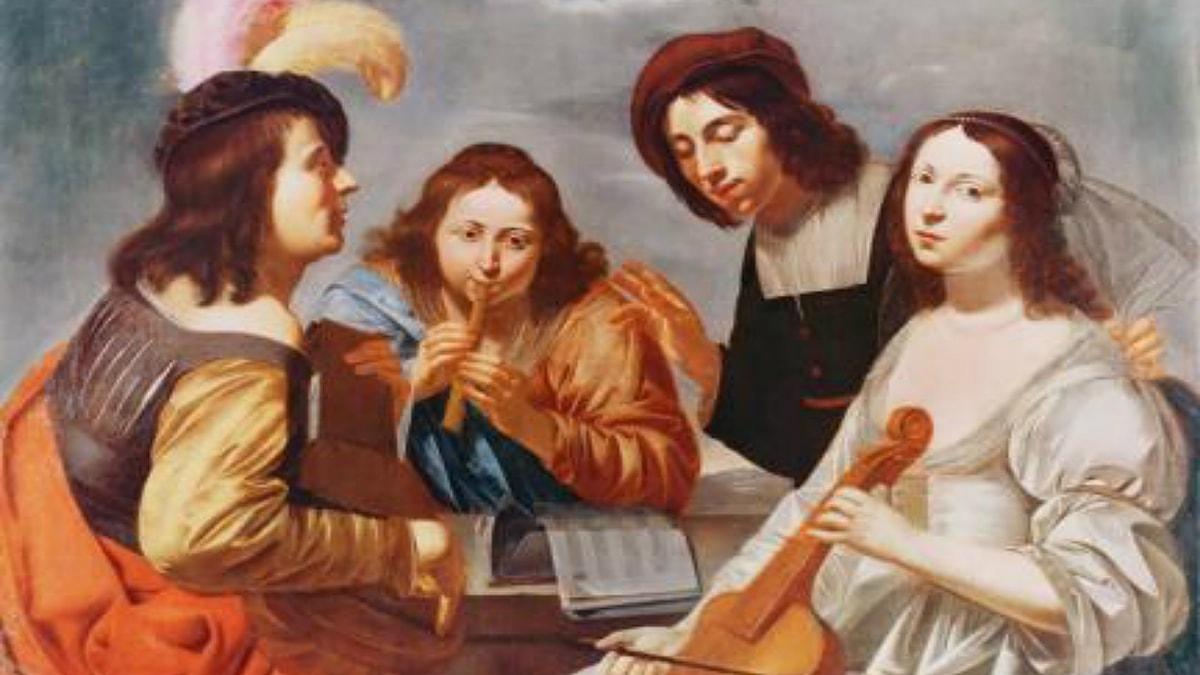 'Konsert'. Jan van Bijlert (1600-tal).