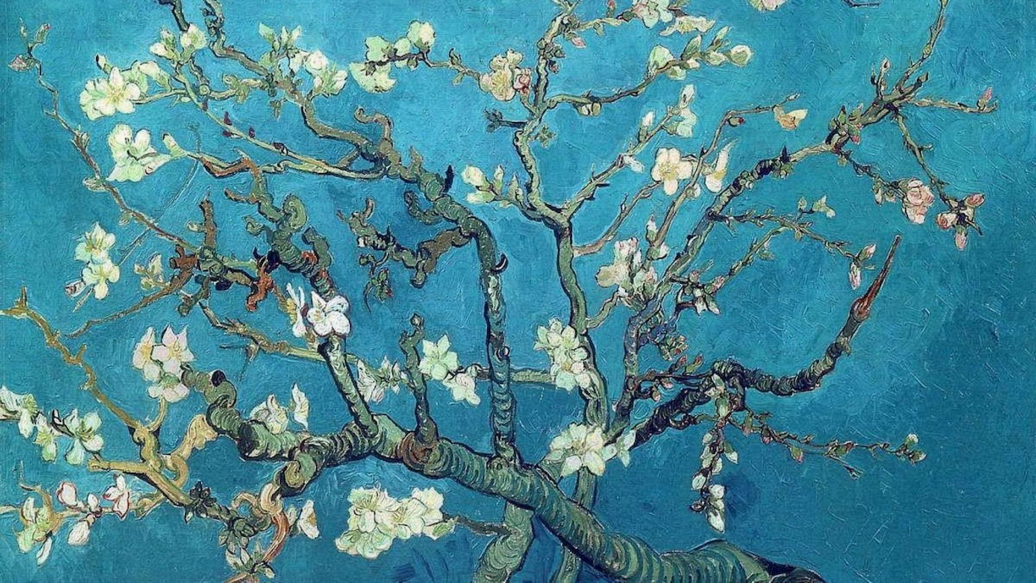 Grenar med mandelblom. Vincent van Gogh-1890