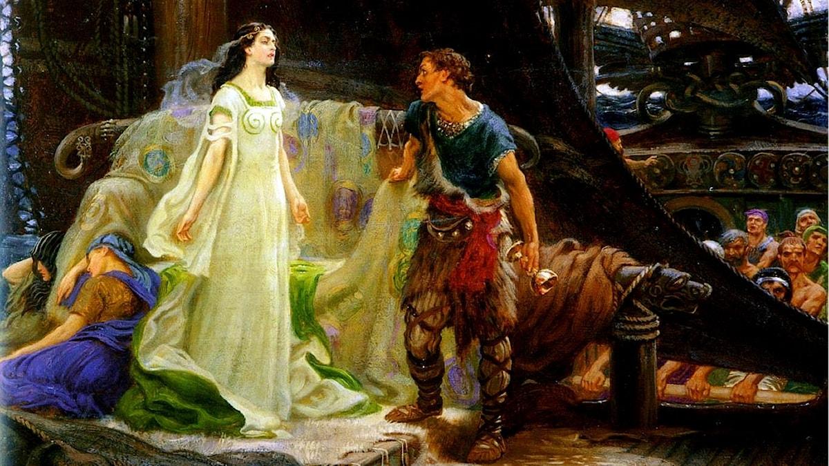 Tristan och Isolde.  Herbert James Draper, 1901.