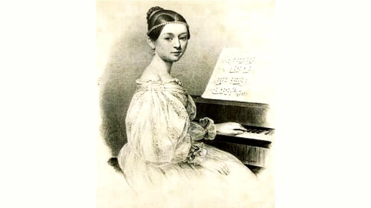 Clara Wieck som 15-åring. Julius Giere (1807–1880).