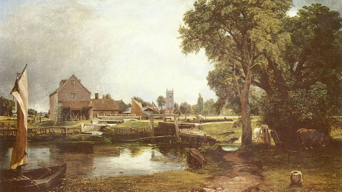 Dedham Lock and Mill. John Constable (1820)