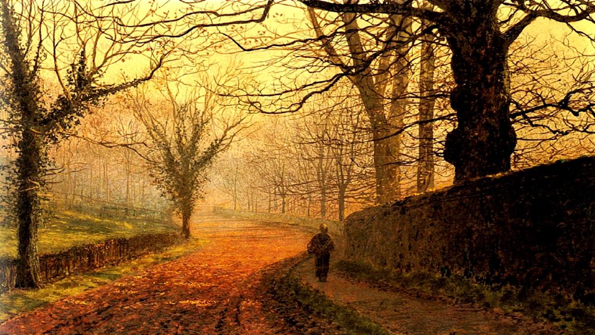 Eftermiddag i november, Stapleton Park. John Atkinson Grimshaw (1936-1893).