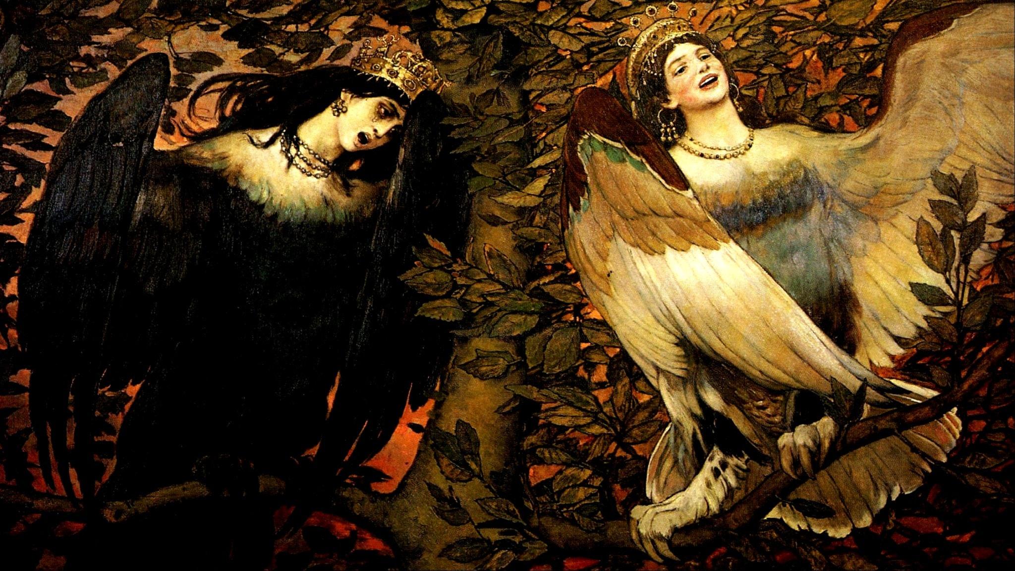 'The Birds of Joy and Sorrow'. Viktor Vasnetsov, 1896.