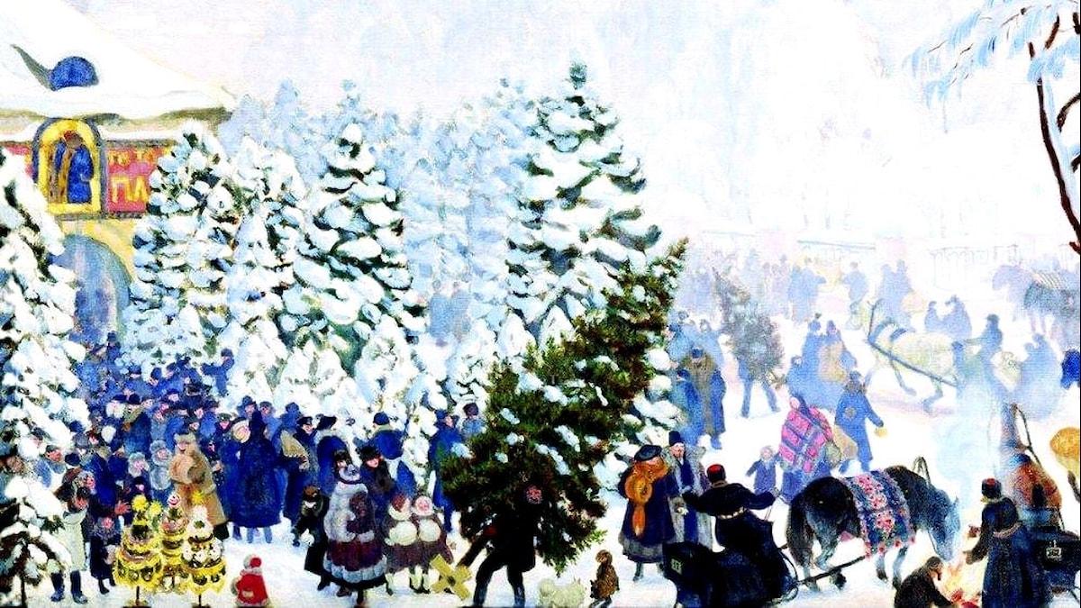 Boris Kustodiev: Julgranen (1918)
