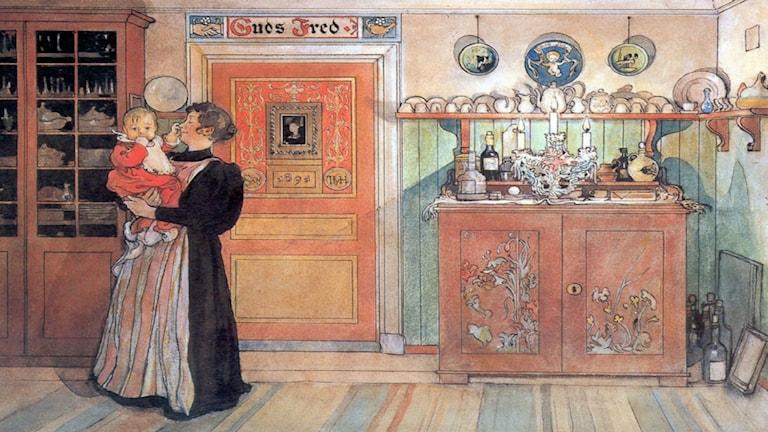Carl Larsson. Mellan jul och nyår (1896)