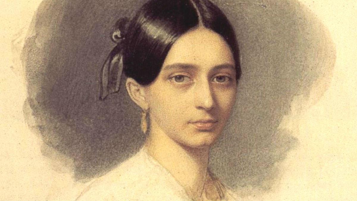 Clara Wieck 1849. Johann Heinrich Schramm (1801–1865).