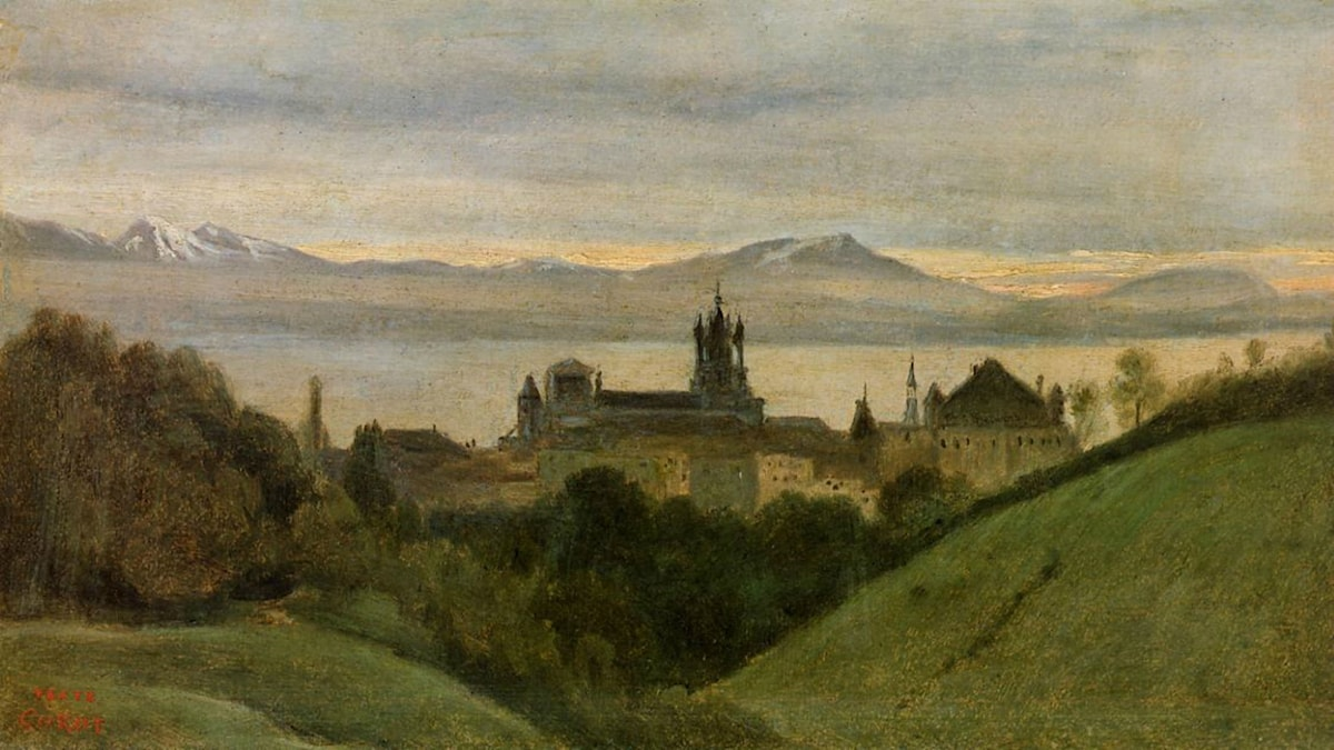 Between Lake Geneva and the Alps. Camille Corot (1825)