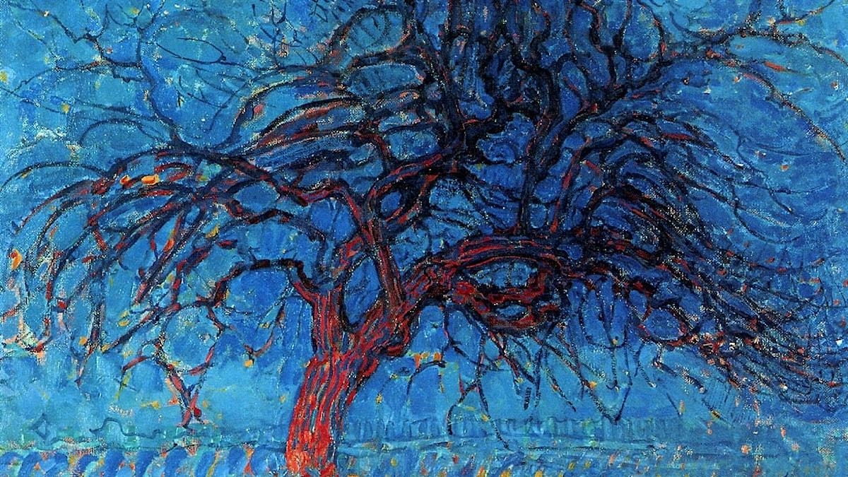 Kväll, rött träd; Piet Mondrian 1910