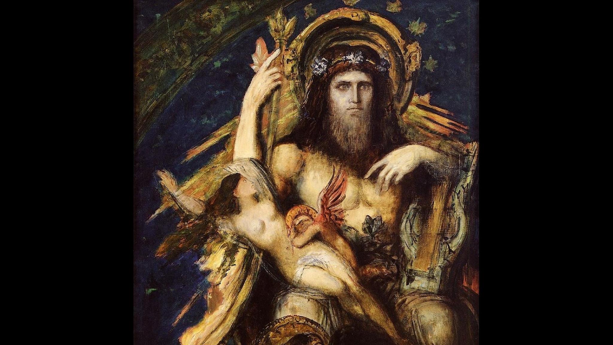 Jupiter och Semele. Gustave Moreau. 1895. Wikiart.