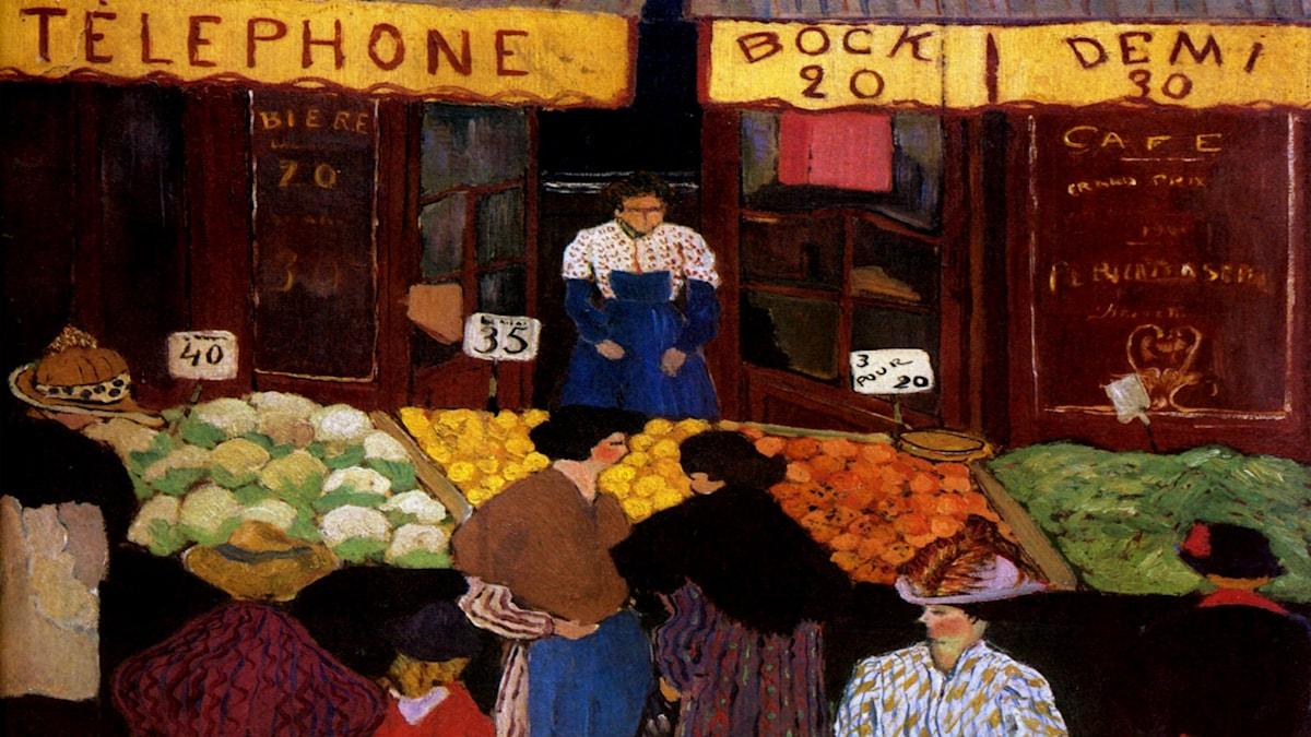 På marknaden. Felix Vallotton,1895.