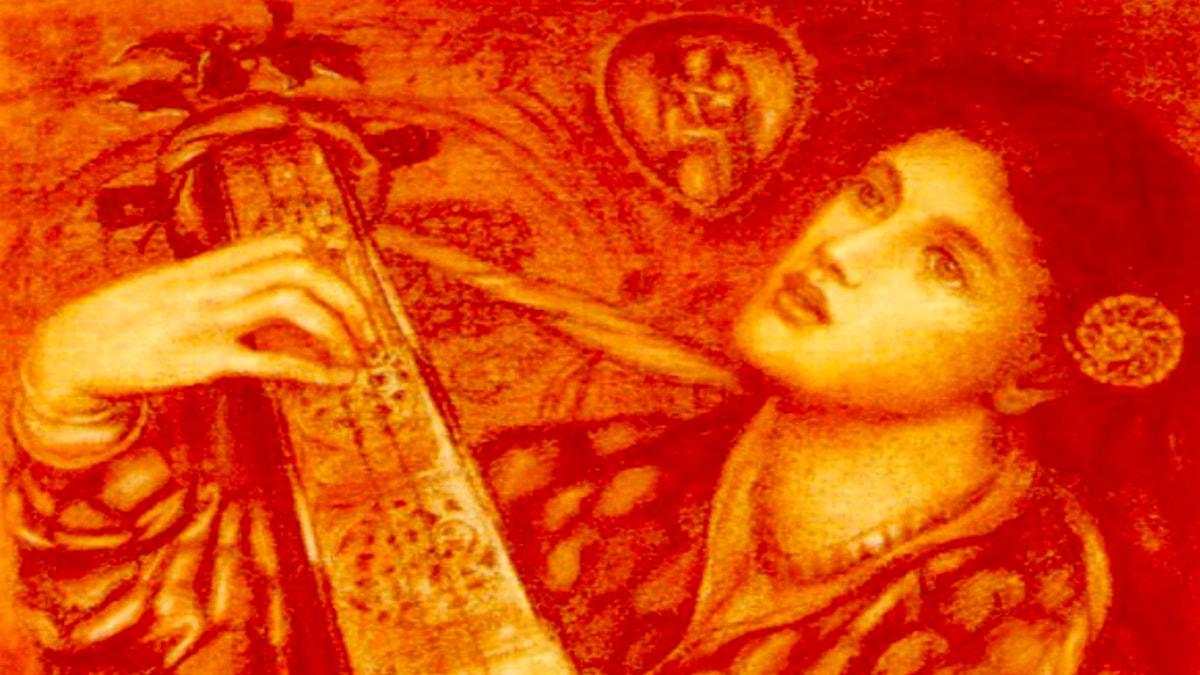 En julsång. Dante Gabriel Rossetti, 1867.