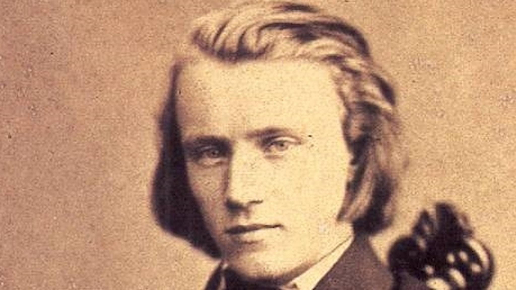Johannes Brahms. Foto 1855.