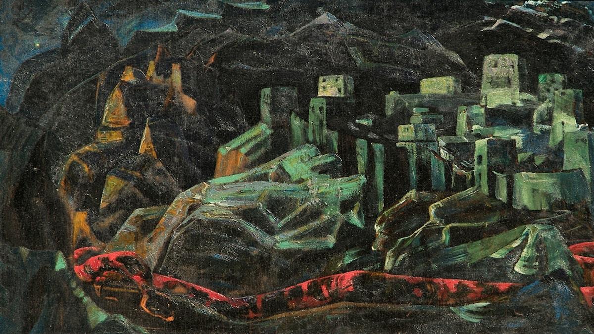 Den döda staden. Nicholas Roerich (1918)