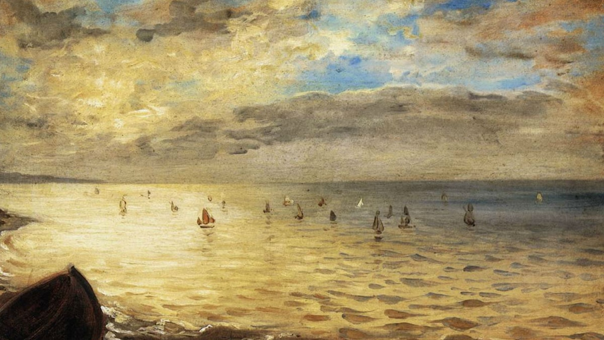 Sea Viewed from the Heights of Dieppe (1852). Eugène Delacroix