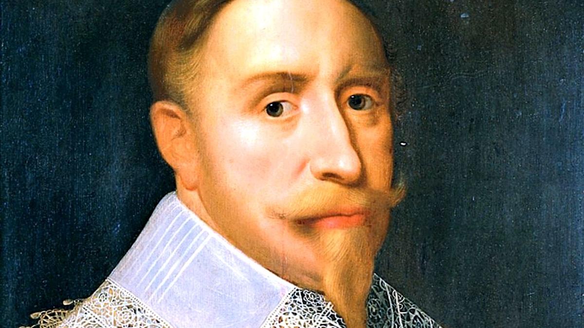 Gustav II Adolf (1594–1632). Okänd konstnär.