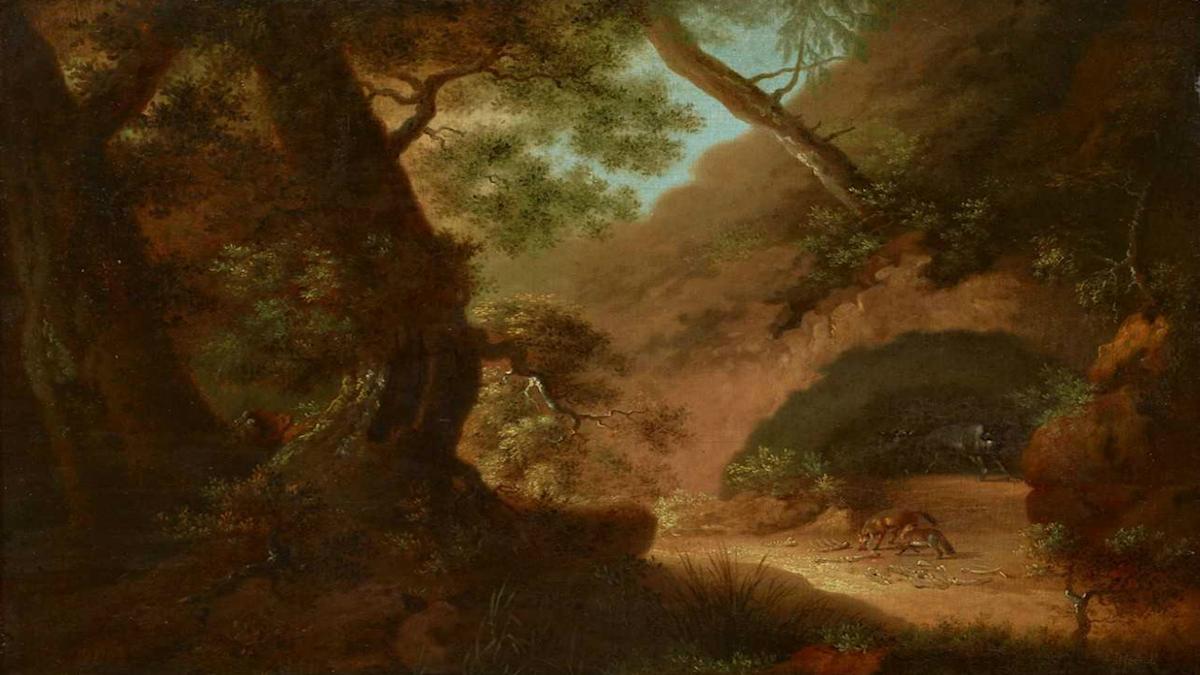 Vargar i skogen. Caspar David Friedrich, 1798.