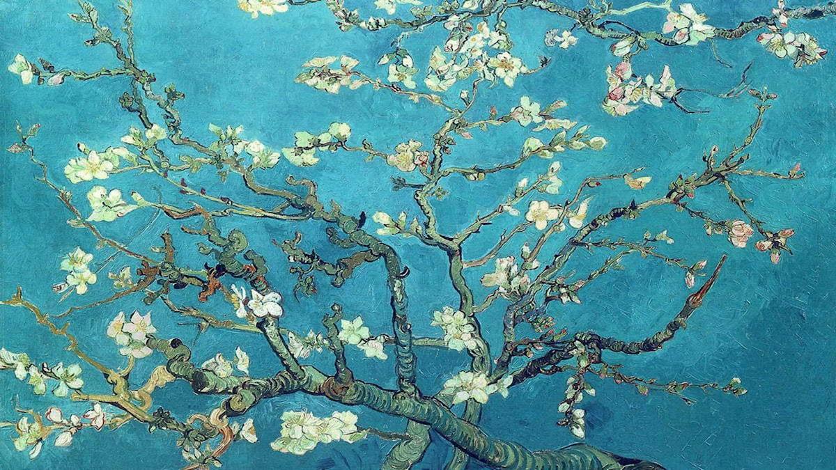 Grenar med mandelblom. Vincent van Gogh, 1890