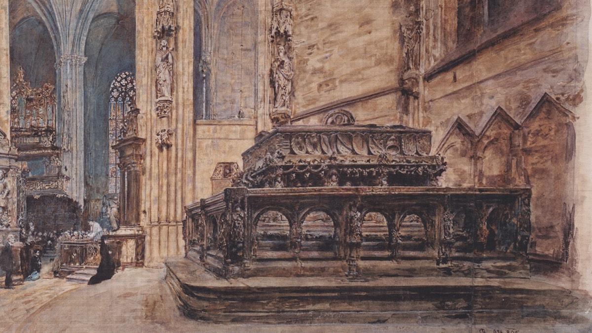 The tomb of Emperor Frederick III in the Stephansdom in Vienna (1895). Rudolf von Alt