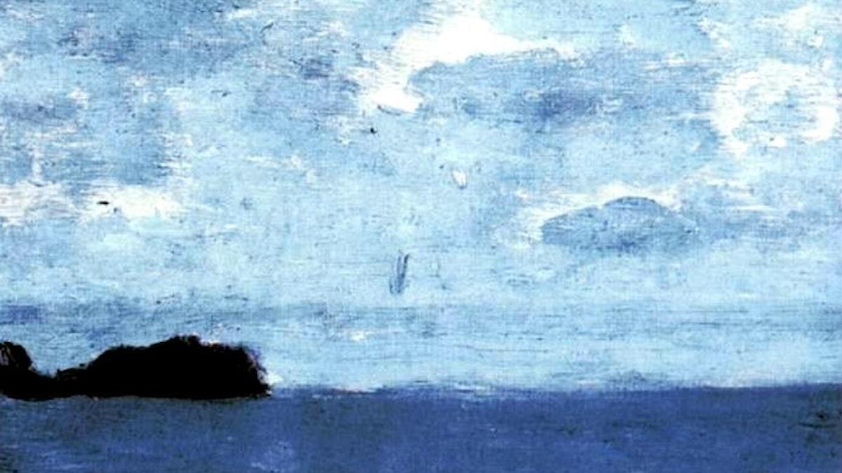 Isaac Levitan: Hav, Finland (1896, detalj)