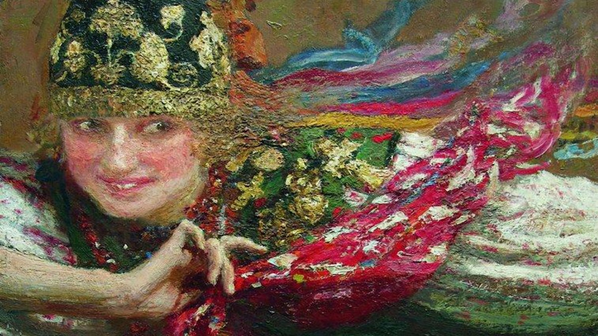 'Dansande kvinna'. Ilya Repin (1844-1930)