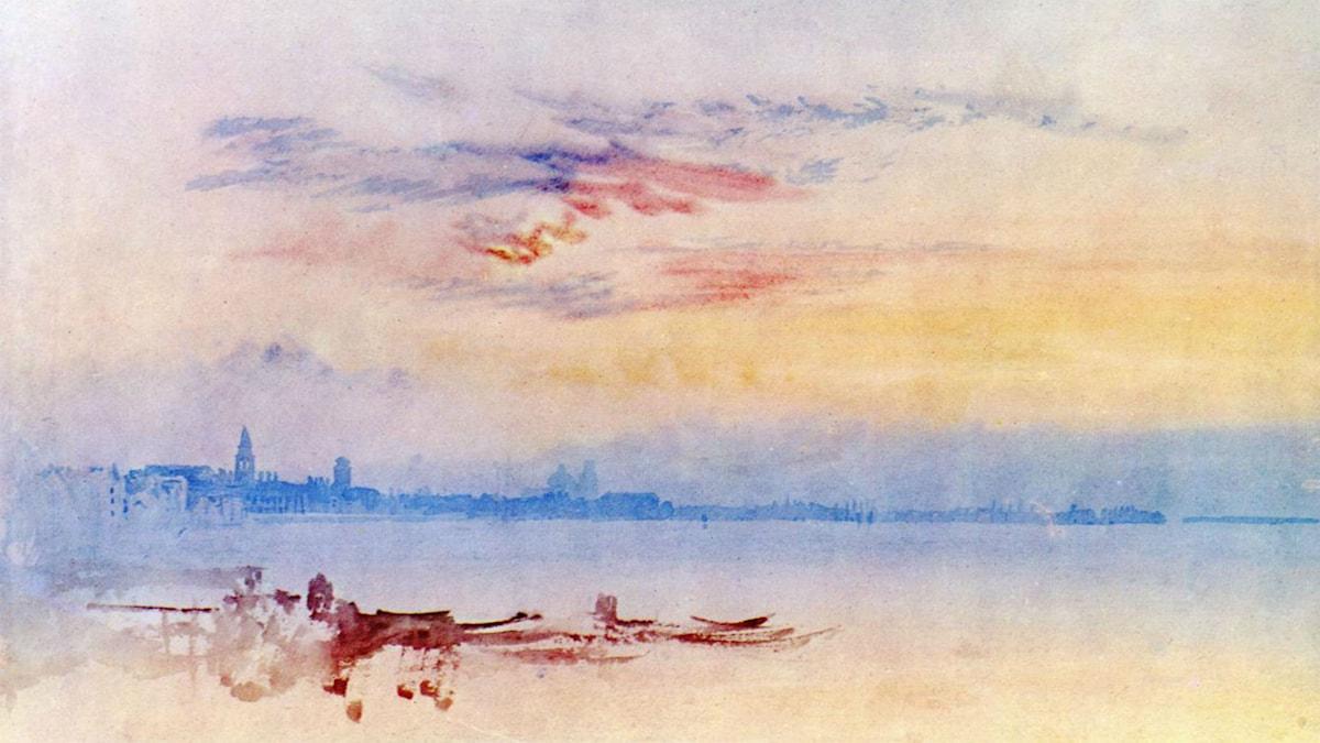 'Venedig i soluppgång'. William Turner, 1819
