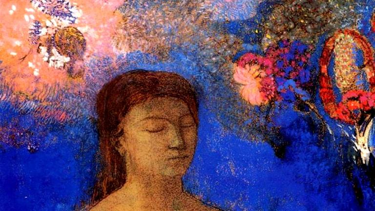 'Slutna ögon'. Odilon Redon, 1895