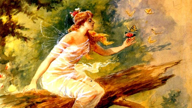 'Skogsnymf'. Charles M. Russell, 1898
